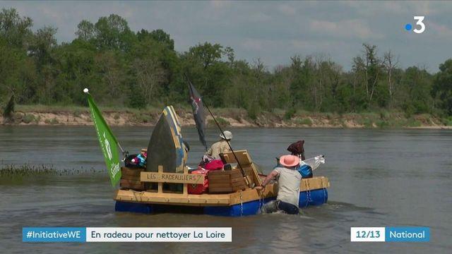 Environnement : une expédition en radeau pour nettoyer la Loire