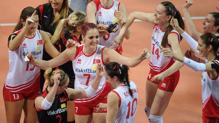 La joie des volleyeuses turques