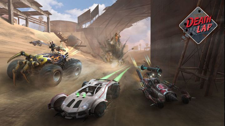 """Les aficionados des courses de voiture peuvent testerle jeu """"Death Lap"""" en avant-première. (OZWE Games)"""