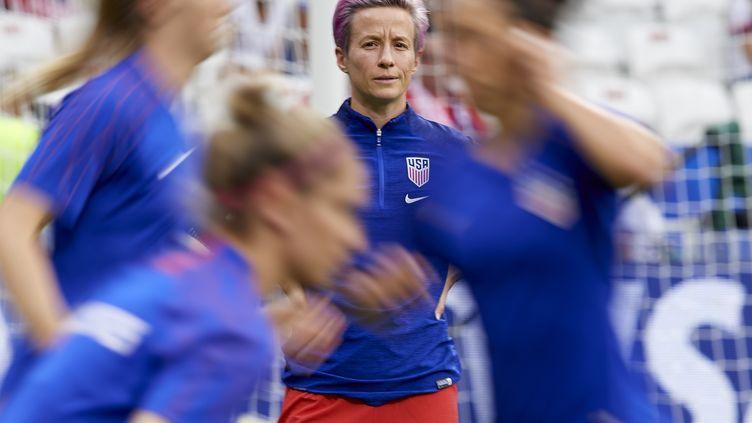 La capitaine de l'équipe des Etats-Unis,Megan Rapinoe, à Lyon le 2 juillet 2019. (JOSE BRETON / NURPHOTO / AFP)