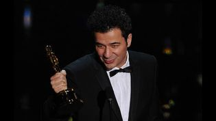 Ludovic Bource, lauréat aux Oscars (26/02/2012)  (AFP / Robyn Beck)
