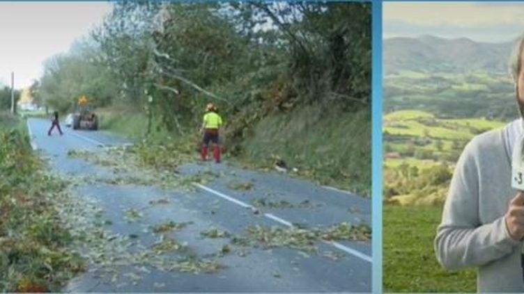 La tempête Barbara a soufflé mardi 20 octobre dans le Sud-Ouest. (France 3)