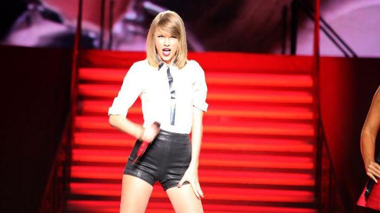 La chanteuse américaine, Taylor Swift, en concert à Shangai le 30 mai 2014, lors de sa tournée «The Red Tour». (QNB / IMAGINECHINA)