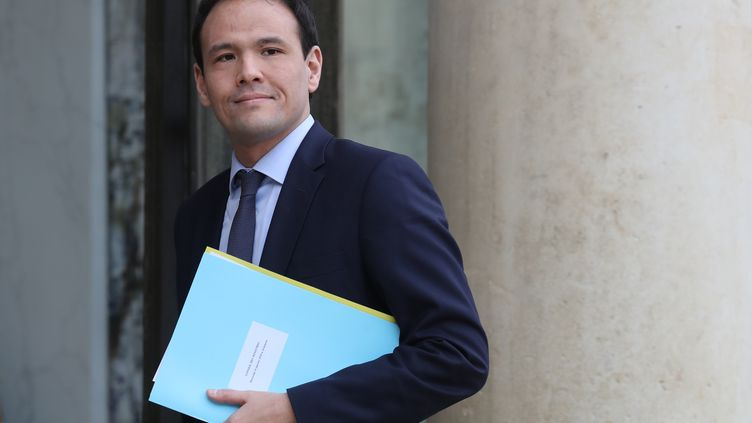 Cédric O, le secrétaire d'État chargé du Numérique, le 15 janvier 2020 à l'Élysée à Paris. (LUDOVIC MARIN / AFP)