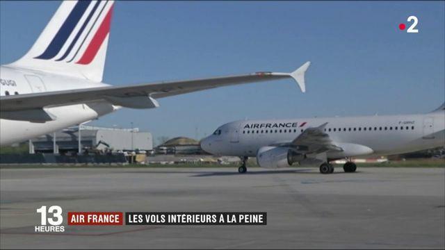 Air France : les vols intérieurs à la peine