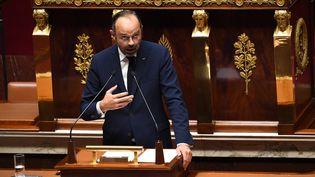 Le Premier ministre Edouard Philippe, lors d'un débat sur l'immigration à l'Assemblée nationale, à Paris, le 7 octobre 2019. (ALAIN JOCARD / AFP)