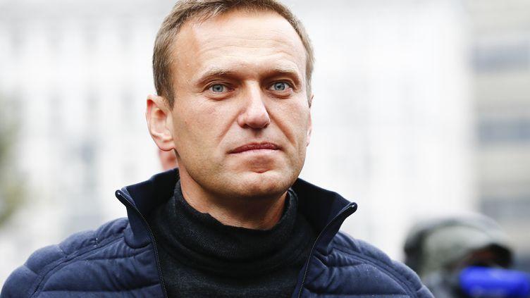 Alexeï Navalny participe à une manifestation de soutien aux prisonniers politiques à Moscou (Russie), le 29 septembre 2019. (SEFA KARACAN / ANADOLU AGENCY/ AFP)