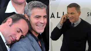 Jean Dujardin et George Clooney à Beverly Hills (6/2/2012) / Daniel Craig à Madrid (29/10/2012)  (Alberto E. Rodriguez / Pierre-Philippe Marcou)