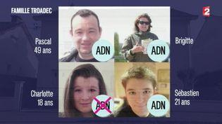 Capture d'écran montrant la familleTroadec disparue depuis le 6 février àOrvault (Loire-Atlantique) (FRANCE 2)