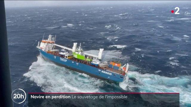 Norvège : l'incroyable sauvetage d'un cargo en perdition