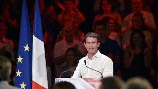 Le Premier ministre Manuel Valls lors d'un meeting à Colomiers (Haute-Garronne), le 29 août 2016. (PASCAL PAVANI / AFP)