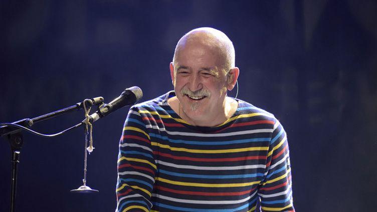 André Minvielle au festival Au Fil des Voix, sur la scène de l'Alhambra, à Paris le 8 février 2015  (Edmond Sadaka / Sipa)