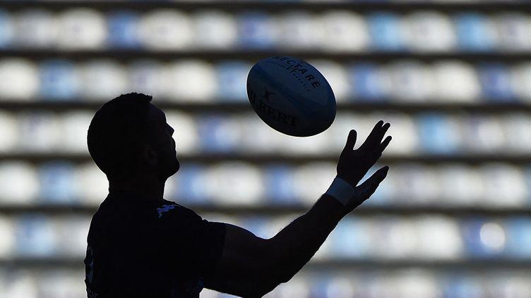 Des anciens joueurs ont lancé une action devant la justice britannique pour alerter sur les risques de troubles neurologiques liés à la pratique du rugby (Illustration 17 janvier 2021). (SYLVAIN THOMAS / AFP)