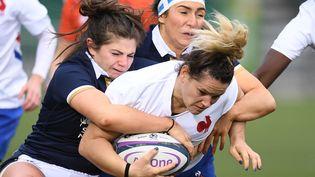 Lise Arricastre, joueuse de l'équipe de France face à l'Ecosse (ANDY BUCHANAN / AFP)