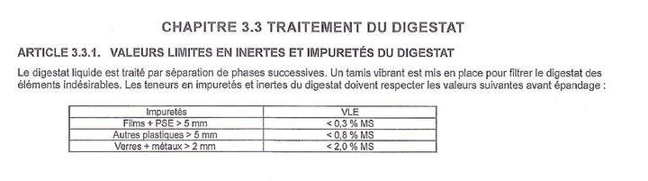 Extrait de l'arrêté préfectoral du 8 janvier 2018 sur les activités dela société Agri-énergie. (PREFECTURE DE L'EURE)