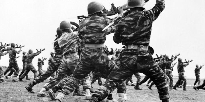 Entraînement de membres de l'OLP au Liban (1967) (AFP)