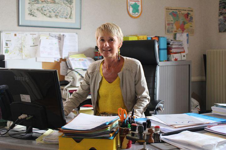 Marie-Pierre Vincent, maire deSaint-Paulien (Haute-Loire), le 31 mai 2021. (ROBIN PRUDENT / FRANCEINFO)