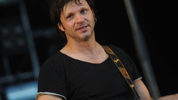 Le chanteur Bertrand Cantat se produit sur la scène des Eurockéennes de Belfort, le 29 juin 2012. (POL EMILE / SIPA)