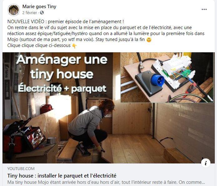 Sur Facebook, YouTube ou sur son blog, Marie raconte l'aménagement de sa tiny (Marie goes tiny)