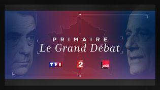 L'affiche annonçant le débat d'entre-deux tours de la primaire de la droite, qui verra s'affronter, jeudi 24 novembre, Alain Juppé et François Fillon. (DR)