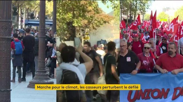 """Les manifestations des """"gilets jaunes"""" et écologistes perturbées par les casseurs"""