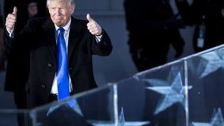 "Donald Trump lors du concert ""Make America Great Again! Welcome Celebration"" le jeudi 19 janvier 2017 au Lincoln Memorial de Washington (BRENDAN SMIALOWSKI / AFP)"
