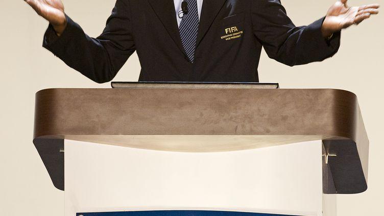 Jack Warner, l'ancien vice-président de la Fifa, le 27 avril 2011 à Carthagène (Espagne). (LUIS ACOSTA / AFP)