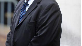 Dominique Strauss-Kahn, le 3 juin 2013, lors des obsèques de Guy Carcassonne, à Paris. (ANTONIOL ANTOINE/SIPA)