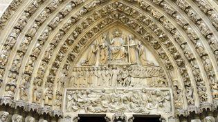 Détail de la façade ouest de la cathédrale Notre-Dame de Paris (MATTES REN? / HEMIS.FR / HEMIS.FR)