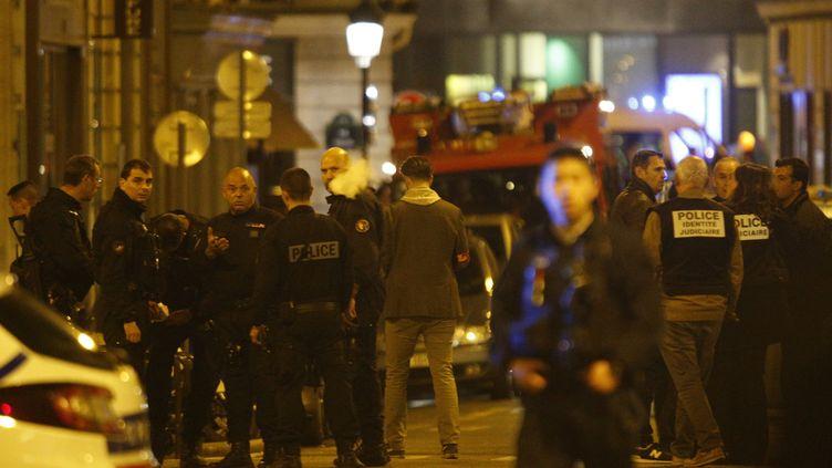 Une attaque au couteau a été perpétrée samedi 12 mai à Paris, dans le 2e arrondissement. (GEOFFROY VAN DER HASSELT / AFP)