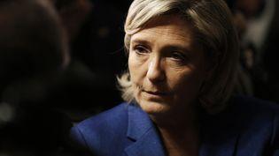 Marine Le Pen, le 6 janvier 2017 àIgoville (Eure). (CHARLY TRIBALLEAU / AFP)