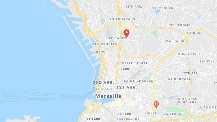 La première fusillade a fait deux morts dans lacité de la Marine Bleue des quartiers nord de Marseille. (GOOGLE MAPS)