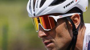 Vincenzo Nibali, lors de la 18e étape du Giro, le 27 mai 2021. (LUCA BETTINI / AFP)