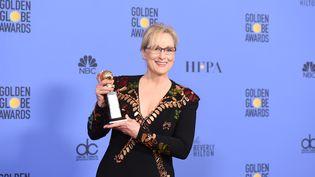 Meryl Streep lors de l'édition 2017 des Golden Globes, dimanche 8 janvier à Los Angeles (Etats-Unis). (Robyn BECK / AFP)