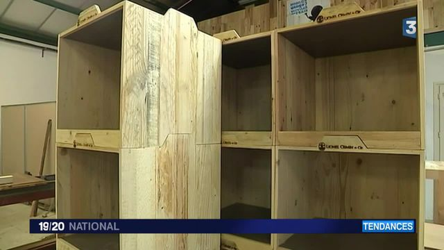 Quand le bois se recycle en mobilier