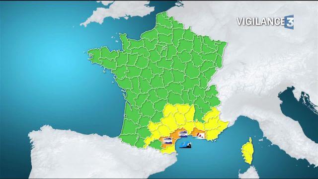 Météo : trois départements du sud-est en vigilance orange
