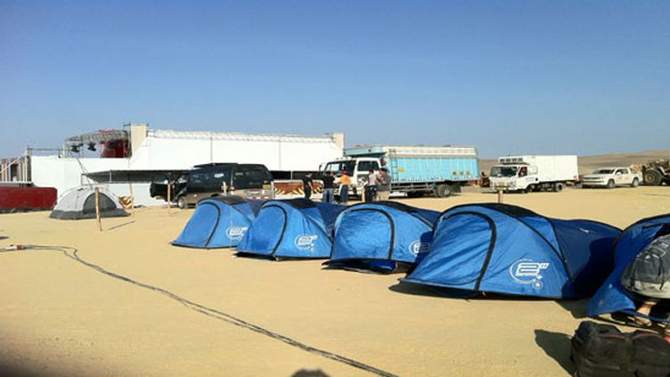 Le Dakar est un village de tentes
