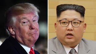 Le président américain Donald Trump et le dirigeant nord-coréen Kim Jong-un. (KCNA VIA KNS / AFP)