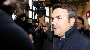 L'ancien secrétaire d'Etat Thomas Thévenoud, le 19 avril 2017, au palais de justice de Paris. (PATRICK KOVARIK / AFP)