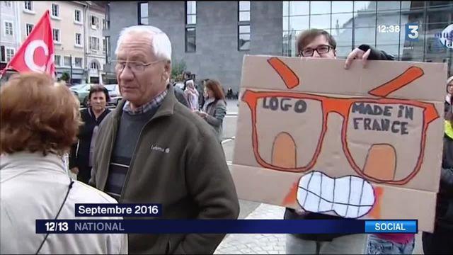 Lunetterie Logo : les salariés se mobilisent pour défendre leur savoir-faire