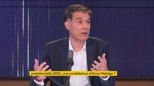 Olivier Faure, sur franceinfo, le 16 juillet 2021. (FRANCEINFO / RADIOFRANCE)