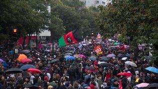 Manifestation contre la réforme du code du Travail, le 12 septembre 2017 à Paris. (DAVID CORDOVA / NURPHOTO / AFP)