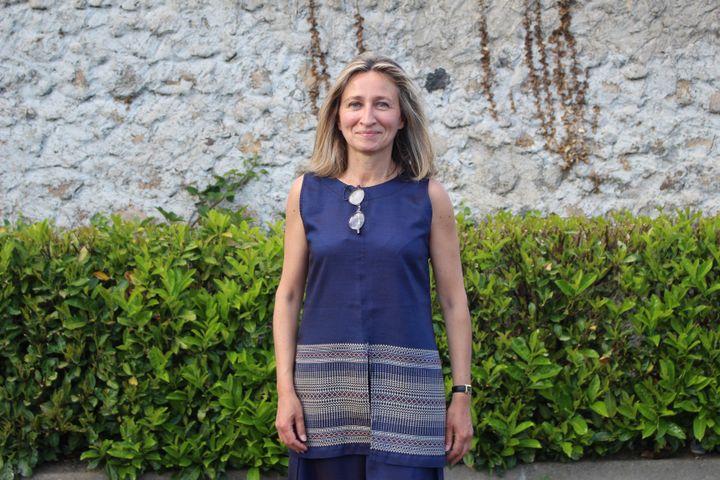 Cécile Gallien, maire de Vorey (Haute-Loire), le 31 mai 2021. (ROBIN PRUDENT / FRANCEINFO)