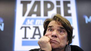 Bernard Tapie, lors d'une conférence de presse à Marseille (Bouches-du-Rhône), le 12 mars 2014. (FRANCK PENNANT / AFP)
