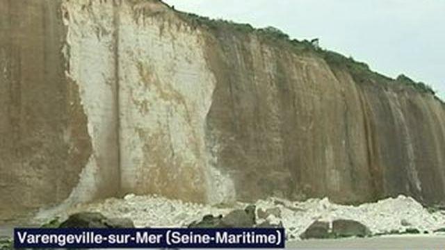 Éboulement d'une falaise en Seine-Maritime : les recherches suspendues