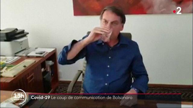 Covid-19 : le coup de communication de Bolsonaro