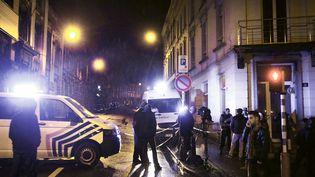La police fédérale a mené une opération antiterroriste contre des jihadistes à Verbiers en Belgique, le 15 janvier 2015 (BRUNO FAHY / BELGA)