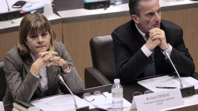 Anne Lauvergeon et Henri Proglio en mars 2011 (AFP/ JACQUES DEMARTHON)