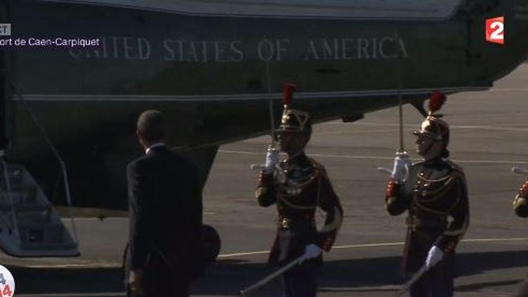 Barack Obama, le président américain, le 6 juin 2014, à Caen (Calvados). ( FRANCE 2)