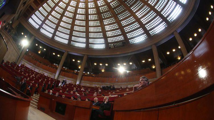 (La conférence sociale se tient au Conseil économique, social et environnemental, palais d'Iéna © MaxPPP)